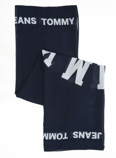 Tommy Hilfiger Kadın Tjw Patch Scarf Atkı AW0AW05995 Siyah
